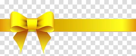 Yellow , yellow ribbon illustration transparent background.