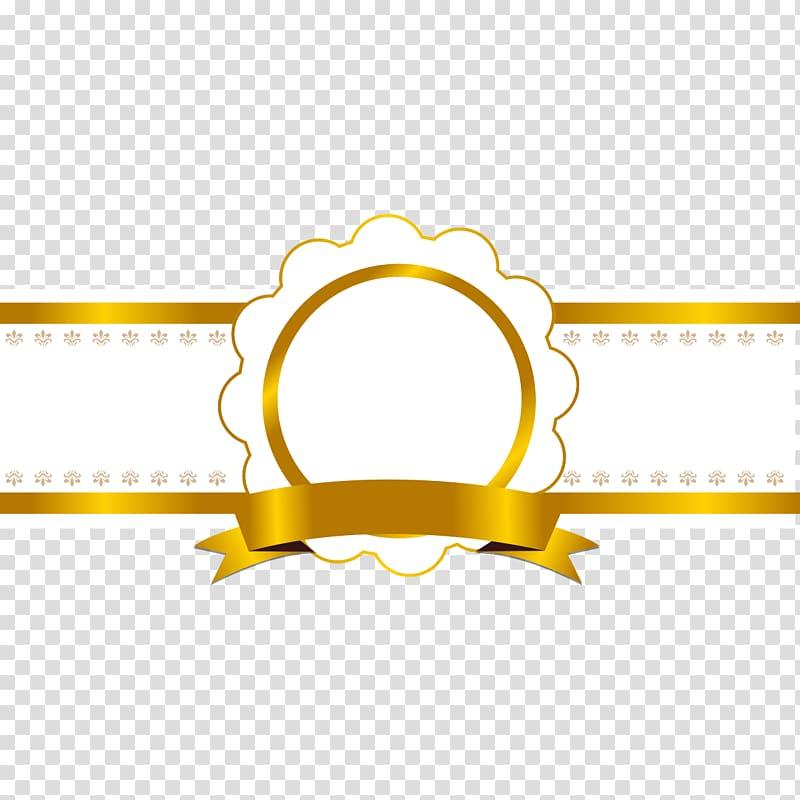 Yellow ribbon illustration, Ribbon Icon, Shiny gold ribbon.
