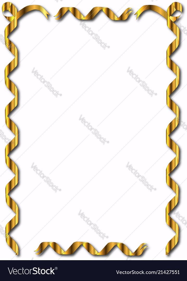 Golden ribbon border.