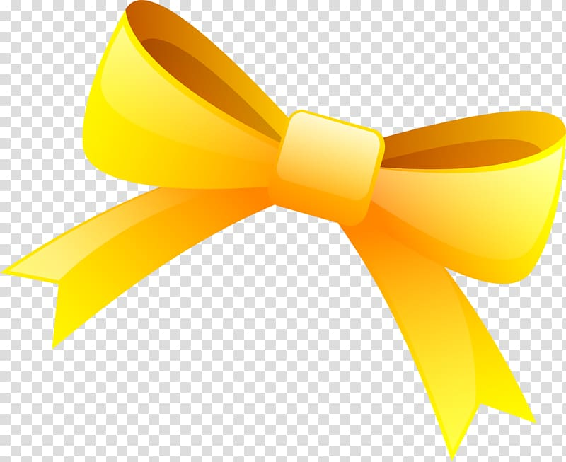Yellow ribbon Drawing, Little fresh yellow bow tie.
