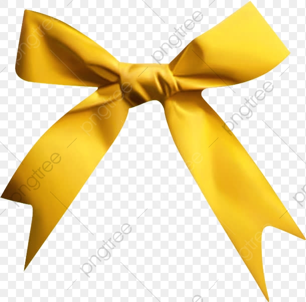 Bow, Bow Clipart, Yellow Ribbon PNG Transparent Image and Clipart.