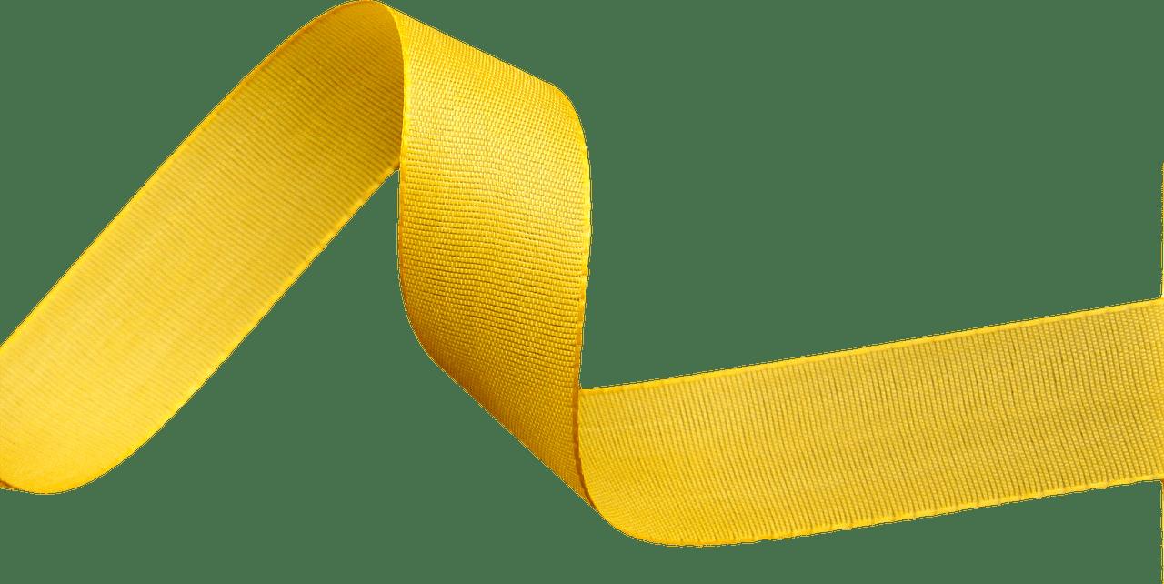 Yellow Ribbon transparent PNG.