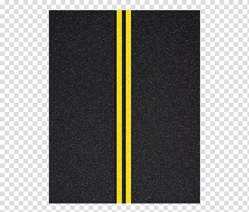 Two yellow parallel lines, Floor Angle Pattern, Asphalt road.