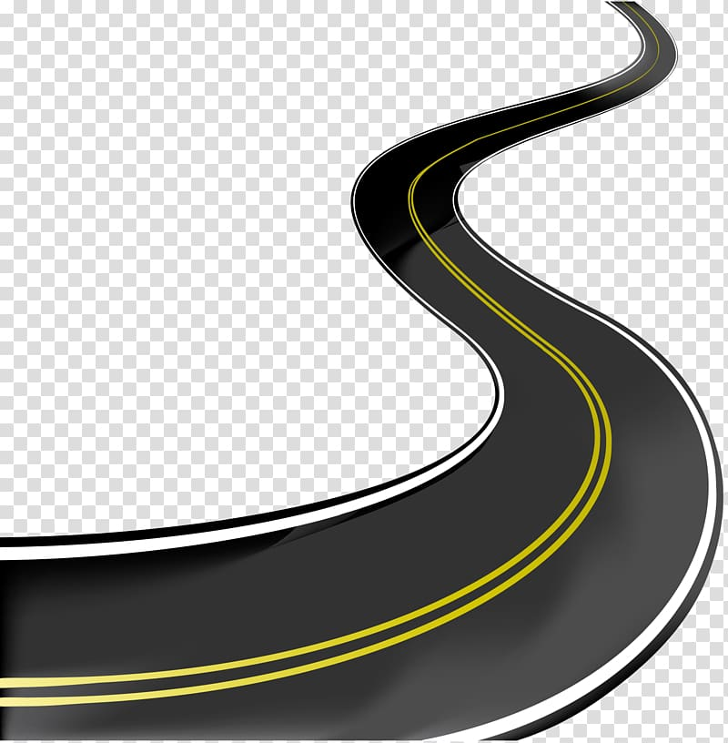 Curved road with two yellow lines, Road Highway , Curved.