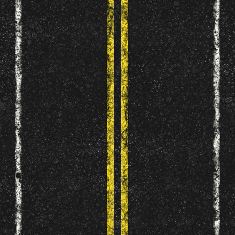 Whit and yellow lines, Road Asphalt concrete Transportation.