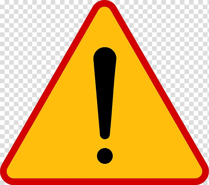 Exclamation point illustration, Traffic sign Symbol Warning.