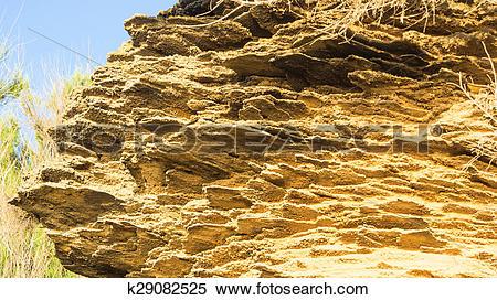 Stock Image of yellow rock sediments k29082525.