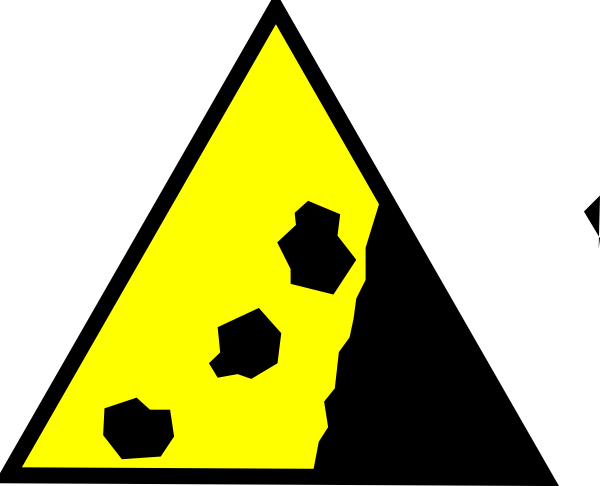 Falling Rocks Yellow Clip Art at Clker.com.