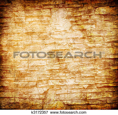 Stock Illustration of abstract yellow rock wall grunge background.