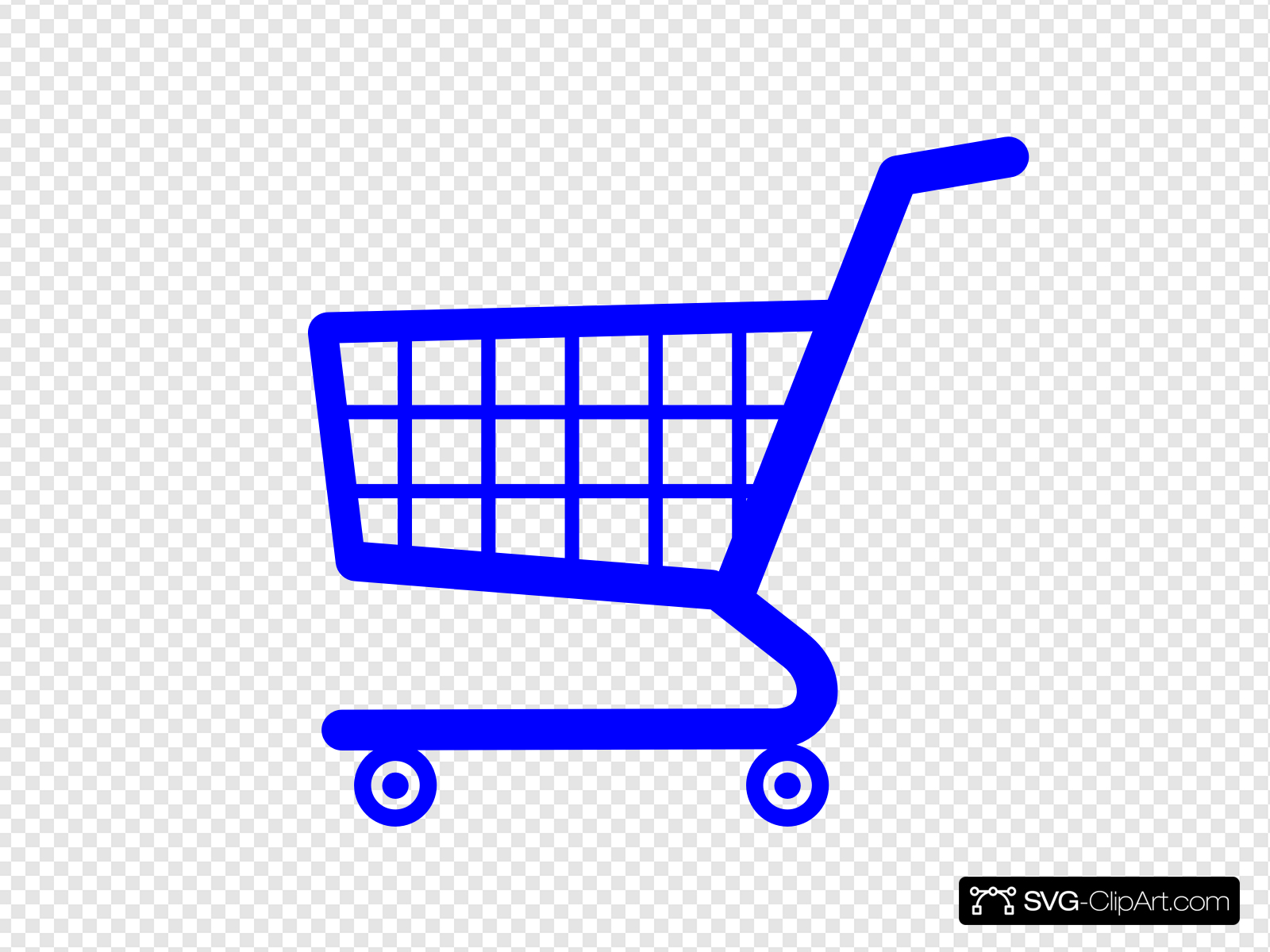 Yellow Shopping Cart Clip art, Icon and SVG.