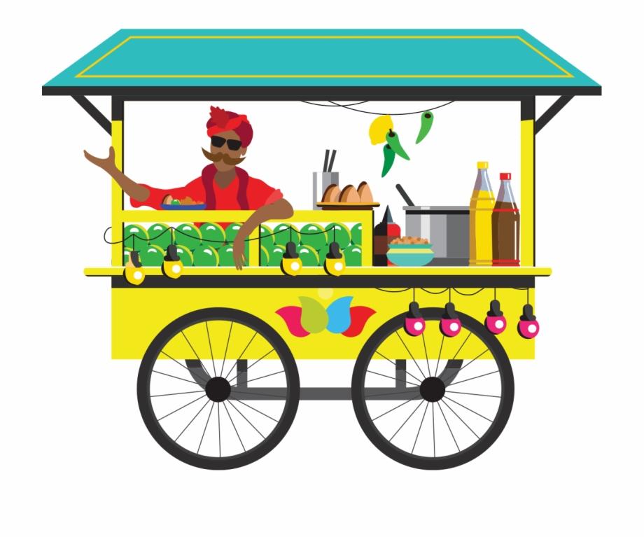 Food Cart Chaat Clipart.