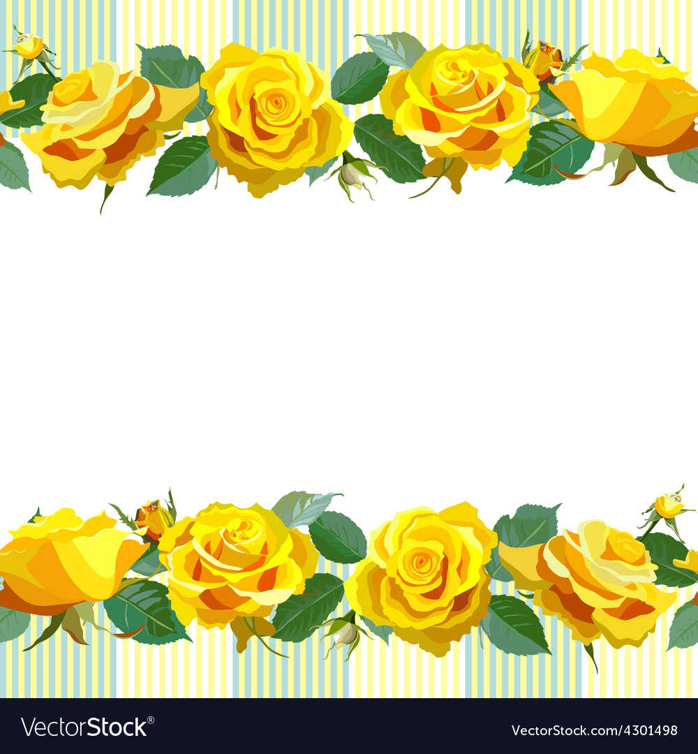 Floral Background with yellow roses.