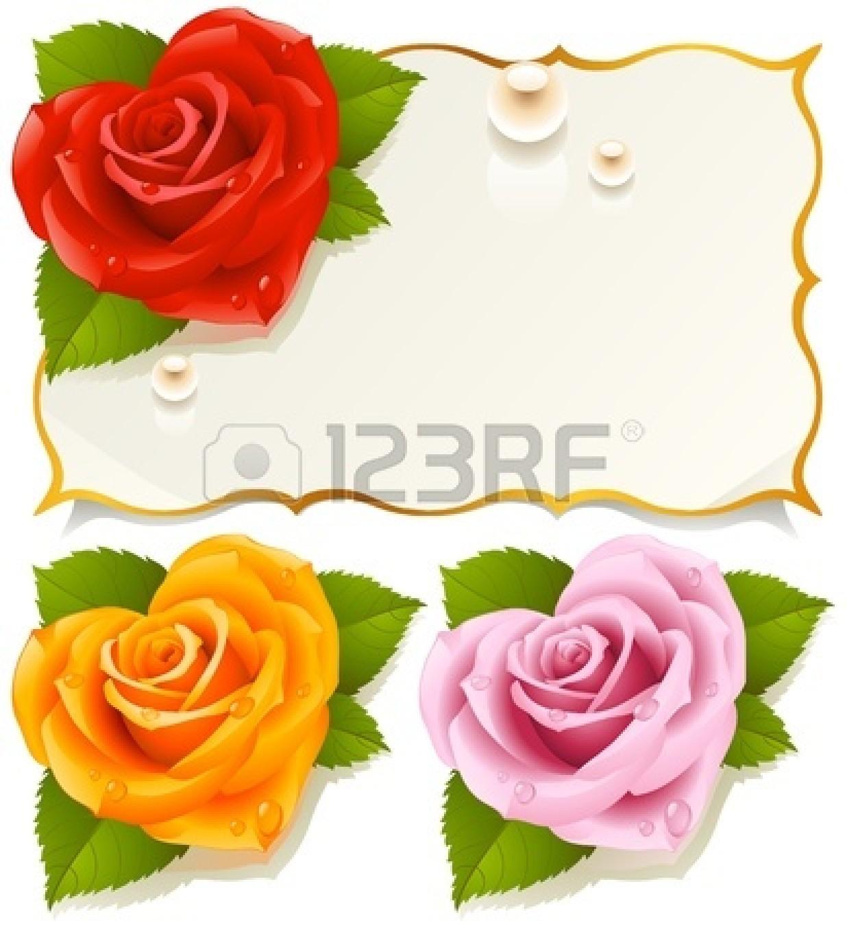 Yellow Rose Border Clip Art N5 free image.