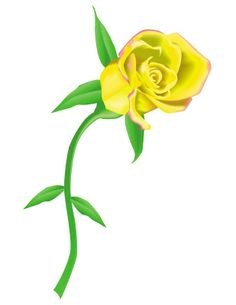 Yellow Rose Border Clip Art.