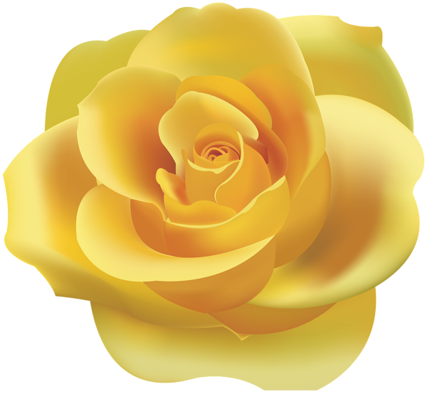 317 Yellow Rose free clipart.