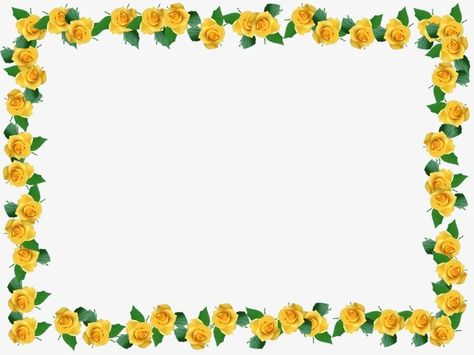 Yellow Flower Border.