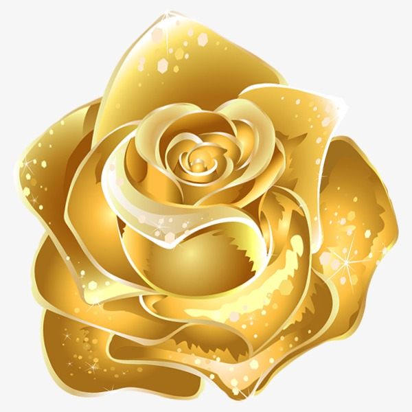 Rose Gold Rose Clipart.