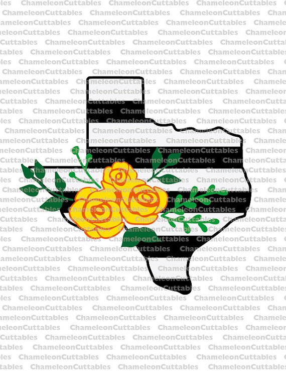 Texas stripes yellow rose svg cut file shirt by ChameleonCuttables.