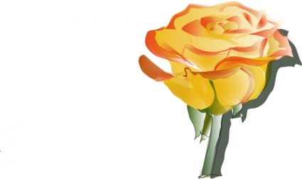 Yellow Rose, Clipart.
