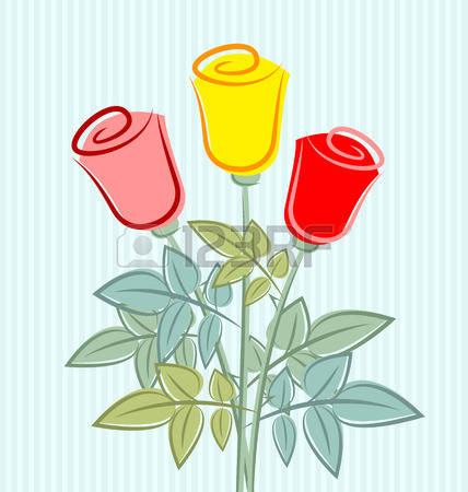 12,990 Yellow Rose Stock Vector Illustration And Royalty Free.