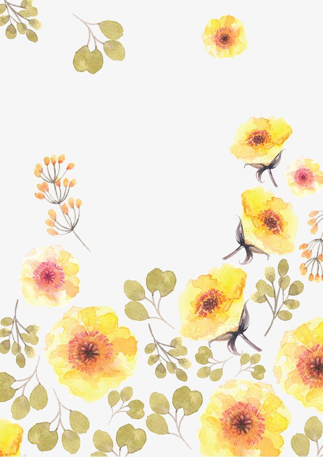 Yellow Flower Pattern in 2019.