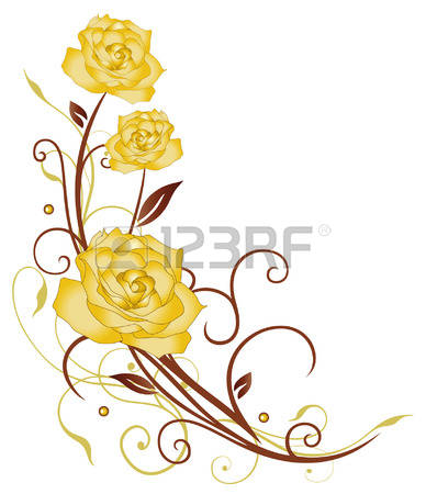 13,598 Yellow Rose Stock Vector Illustration And Royalty Free.