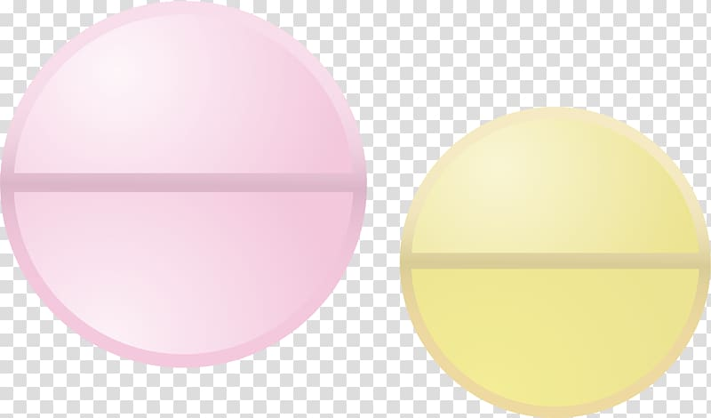 Yellow Circle, Tablet medicine transparent background PNG.