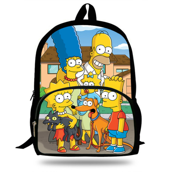 New Hot Cartoon The Schoolbag For School Boys Girls Fashion Character  Homer&Marge Printed Backpack For Kids Students 9 Girls Backpacks Satchel  Bags.