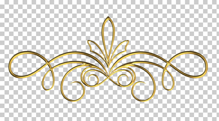 Scroll Gold, design PNG clipart.