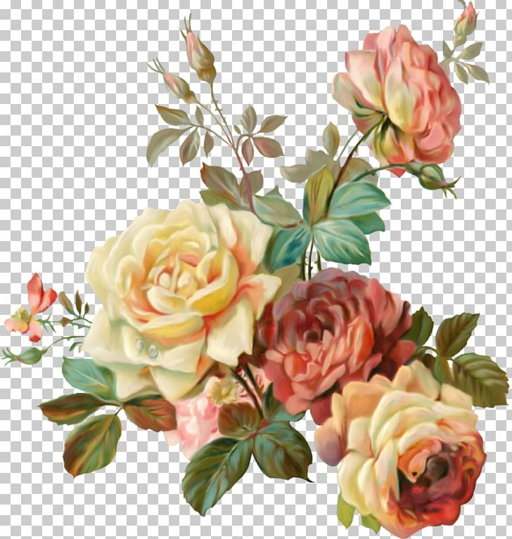 Flower Garden Roses Vintage Clothing Paper Shabby Chic PNG.