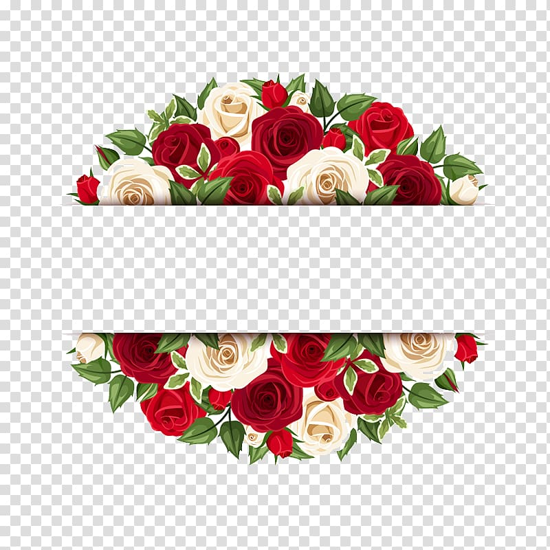 Red and yellow roses banner illustration, Rose Flower Floral.