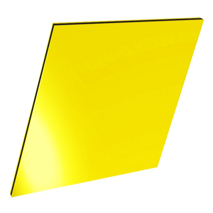 3mm Yellow Aluminium Composite Sheet.