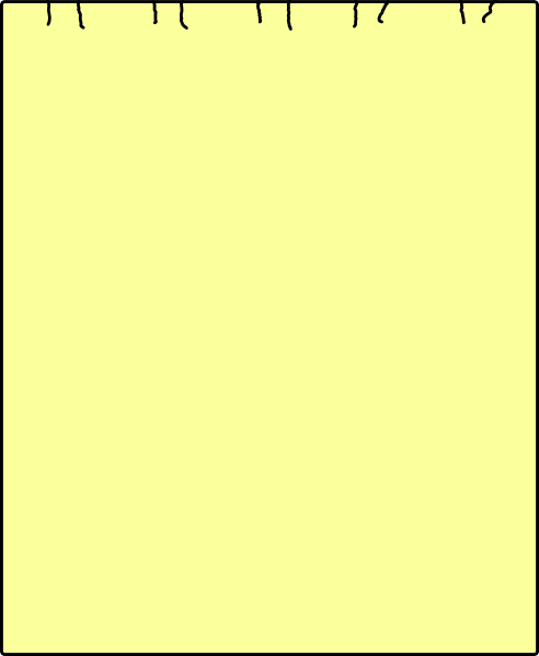 Single Yellow Sheet Paper Back Clip Art at Clker.com.
