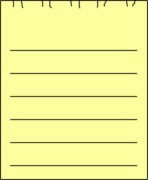 Single Yellow Sheet Paper Clip Art at Clker.com.