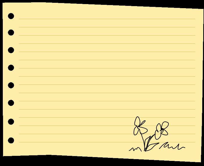 Clipart sheet paper.