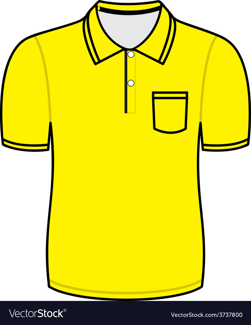 Yellow polo shirt outline.