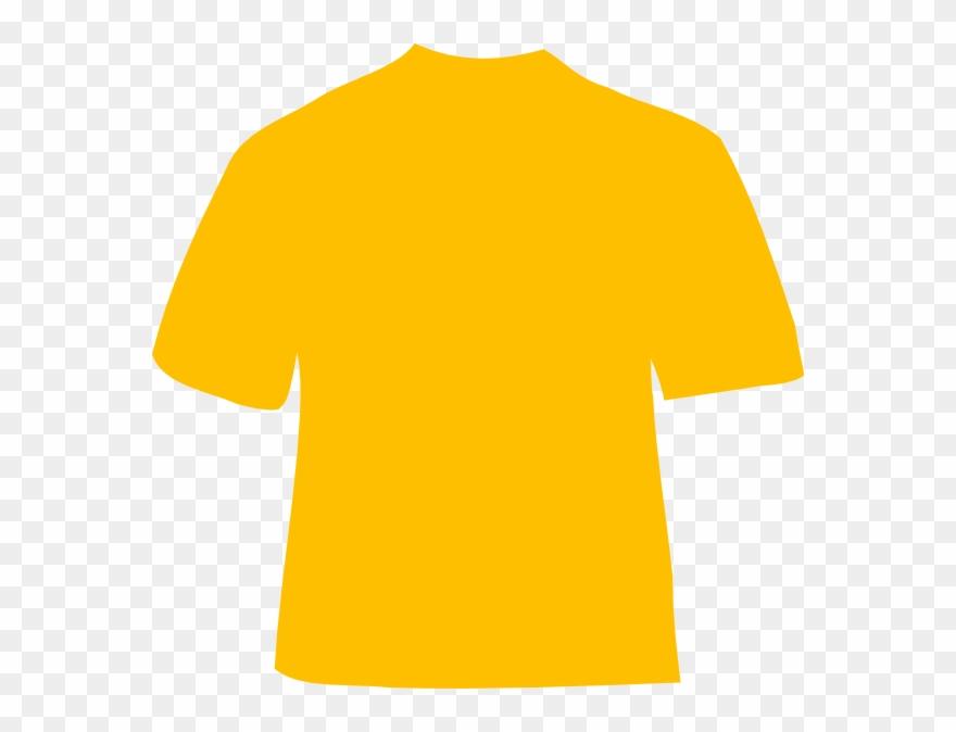 Yellow Gold Shirt Template Clipart (#106542).