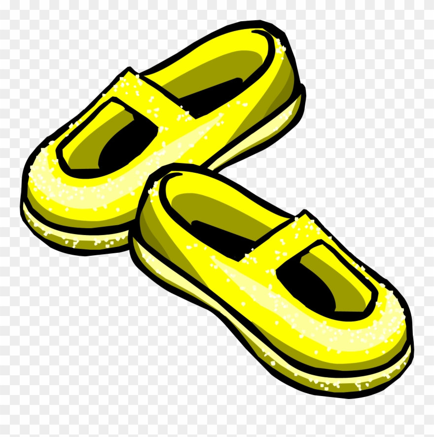 Sneakers Clipart Yellow Shoe.