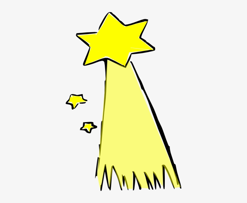 Shooting Star Clipart Big Yellow.