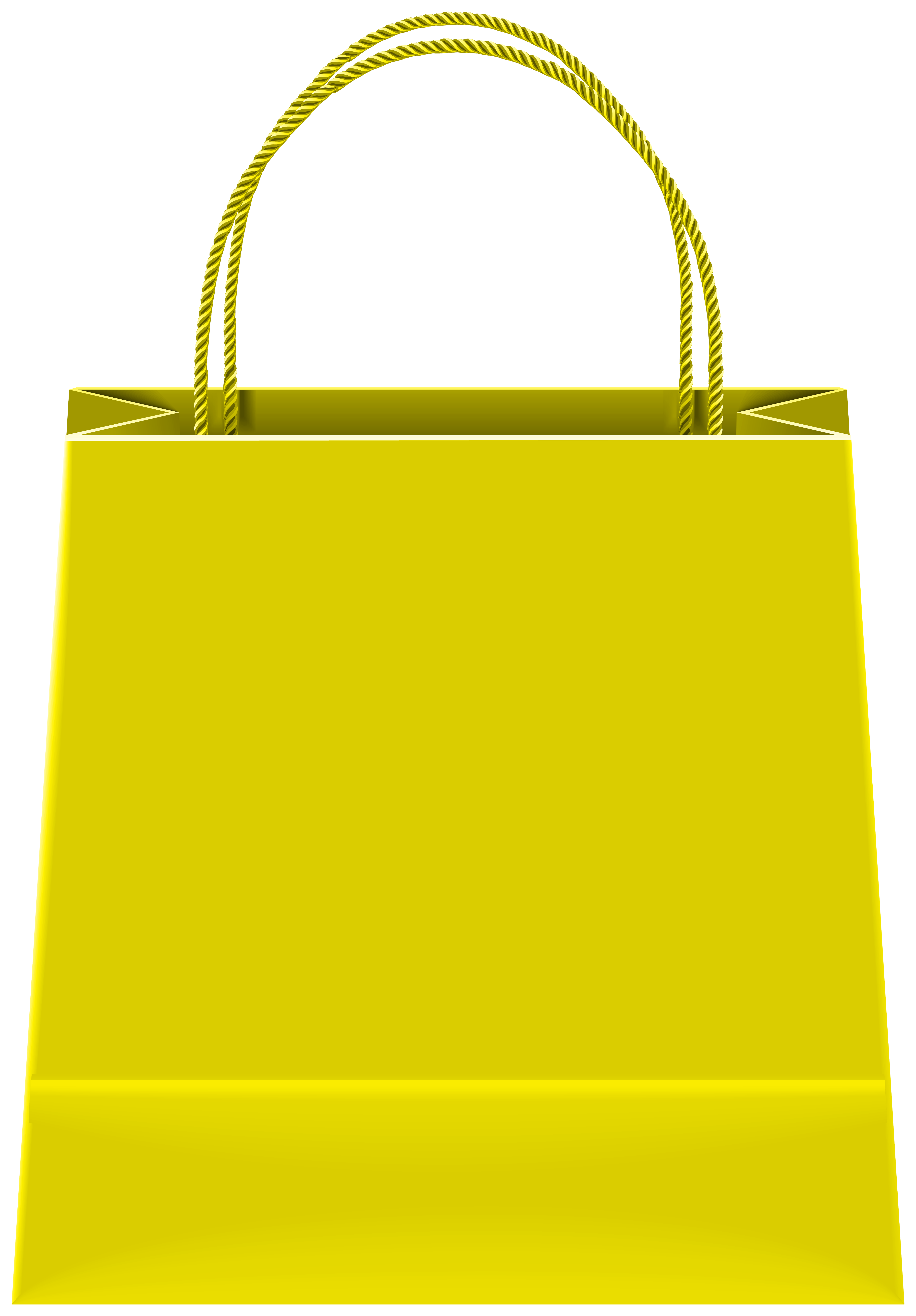 Gift Bag Yellow PNG Clipart.