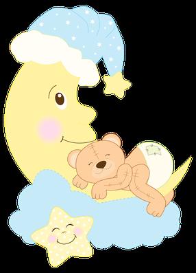 Sleeping Bear Clip Art.