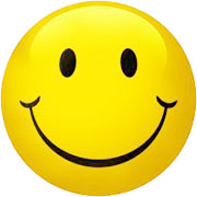 big yellow smiley face.