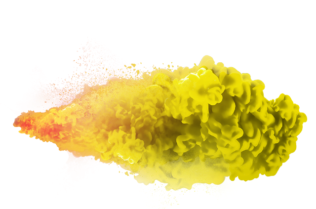 Yellow Smoke PNG Image with Transparent Background.