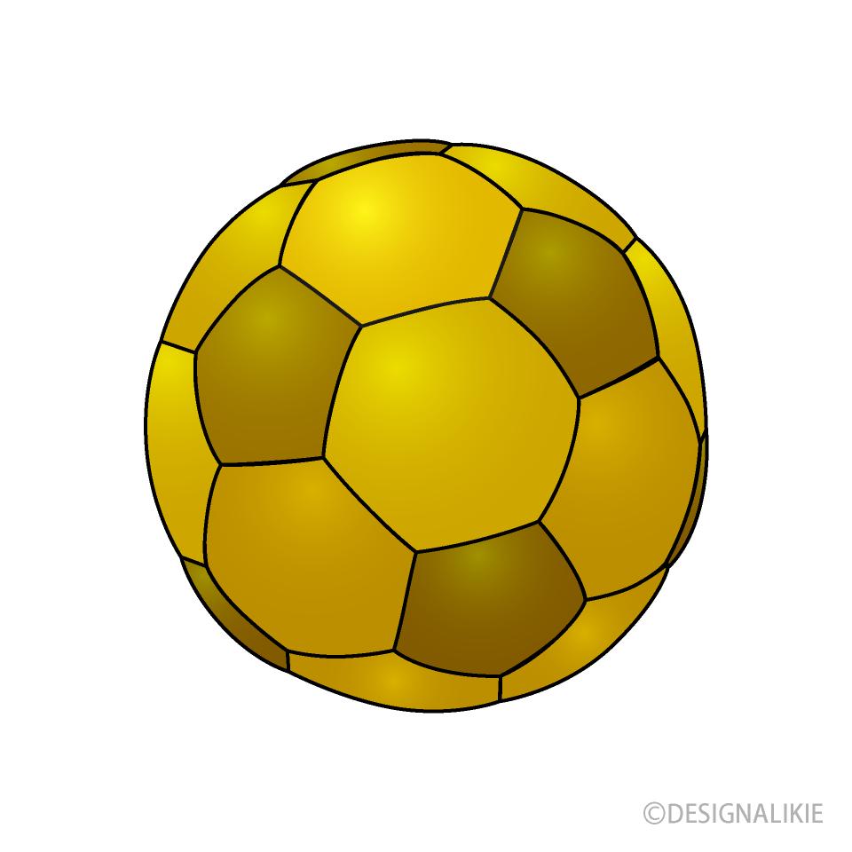 Free Gold Soccer Ball Clipart Image Illustoon.
