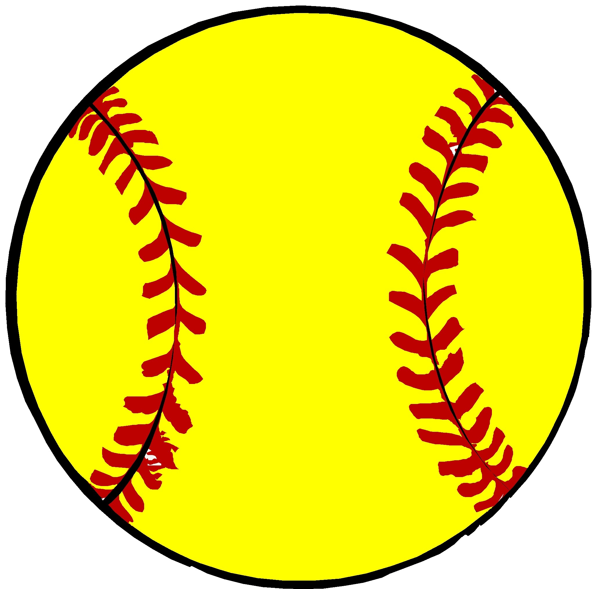 Softball Clipart Free.