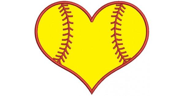 Heart Clipart Softball.