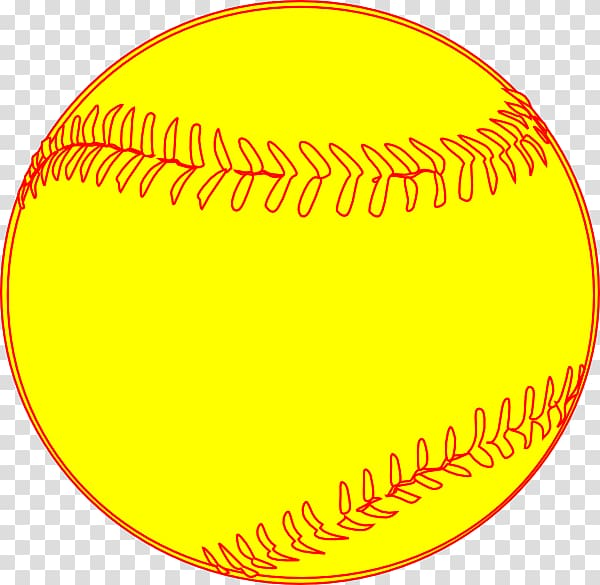 Softball Vector transparent background PNG cliparts free.