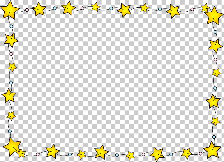 Stars Border , yellow stars illustration PNG clipart.