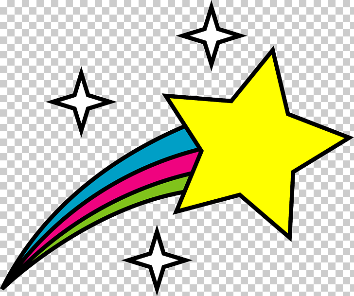 Star Animation , Star s, shooting yellow star art PNG.