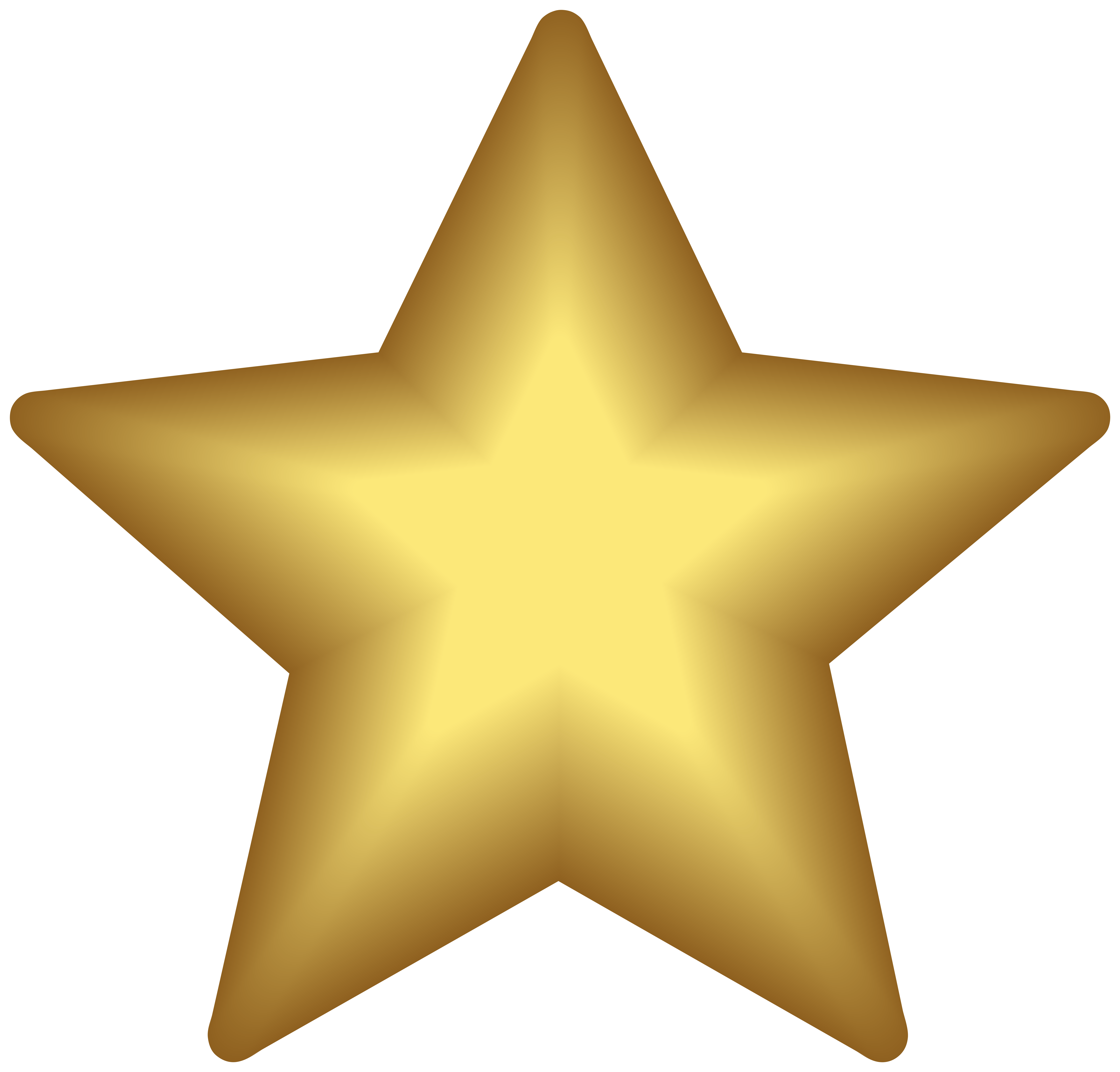 Yellow Star PNG Clipart.